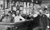 (1902) Bock Beer drinkers in the old Mansion House Hotel, at Market and Lincoln streets, taken around 1902. Man at left is Ezra Keller, owner of the hotel at the time.