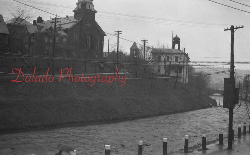 Old photos of Shamokin Creek from Water Street.