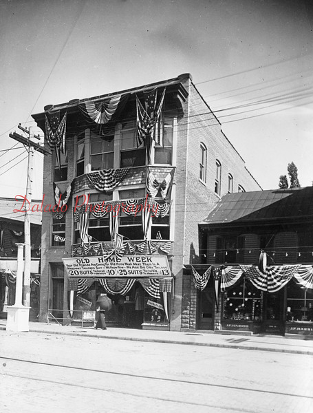 This building, located across from Jones Hardware on Independence Street, is shown during Old Home Week.
