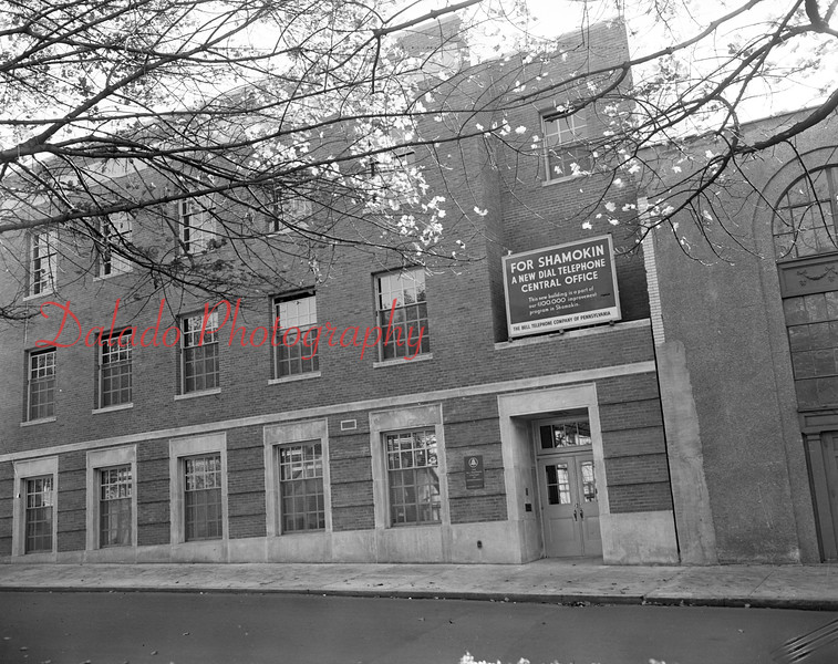 (11.01.1951) New Shamokin Telephone Central Office building along Lincoln Street.