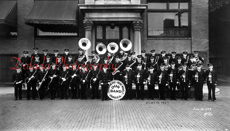 (06.13.1939)  Our Band, sponsored by the Shamokin Dye and Print Works.