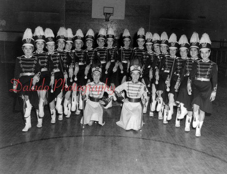 St. Edward's Majorettes. Kneeling are, from left, Patricia Thomas and Dolores Waugh; standing, Maureen Metza, Barbara Karpinski, Marie Zator, Betty Picarelli, Eleanor McBridge, Mary Jane Quinn, Jeanette Keating, Virginia Skeepes, Mary Jane Coyle, Natalie Stadnicki, Jenneen Elliott, Phyllis Christiana, Margaret Zimmerman, Marie Barnabe, Ann Holland, Judy Bainbridge, Marian Mazzatesta and Mary Arlene Obniski.