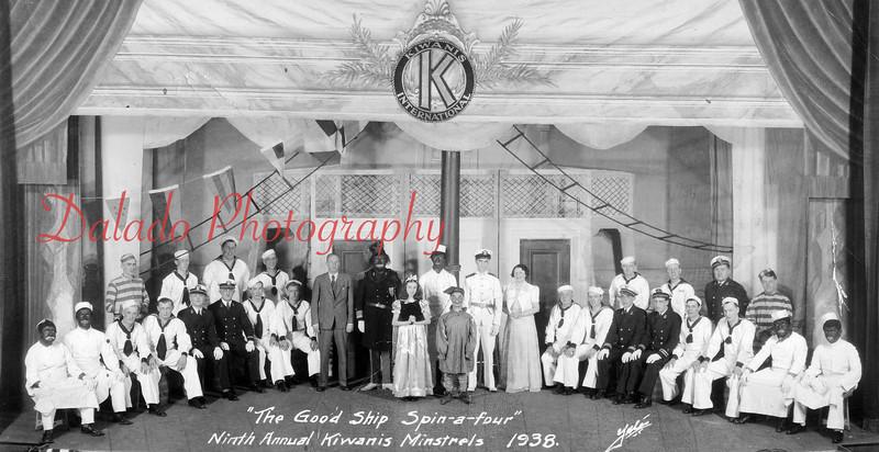 "(1938) Ninth annual Kiwanis Minstrels ""The Good Ship Spin-a-four."
