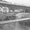 (June 1972) Hurricane Agnes damage in Tharptown.