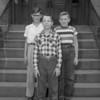 (10.04.53) Academy School patrol boys are, front row, Walter Haupt; second, David Vastine and James Yordy.