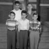 (10.04.53) St. Anthony's School patrol boys are, front row, from left, Bob Mogelinski, Peter Bendas and Blade Sacus; second, Carmen Fierio and James Kerns.