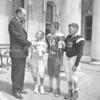 (1963) Mayor Weller with football players.