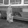 (1954) Shamokin-Mount Carmel Bus Co. drivers John Butzko, standing, and George Ladika.