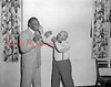 (08.02.51) Jersey Joe Walcott with Wilson Yoder, of Aristis, when he was a guest of honor at the Mount Carmel Elks Lodge #356.
