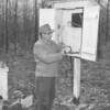 (1951) Looks like a man at a weather station.