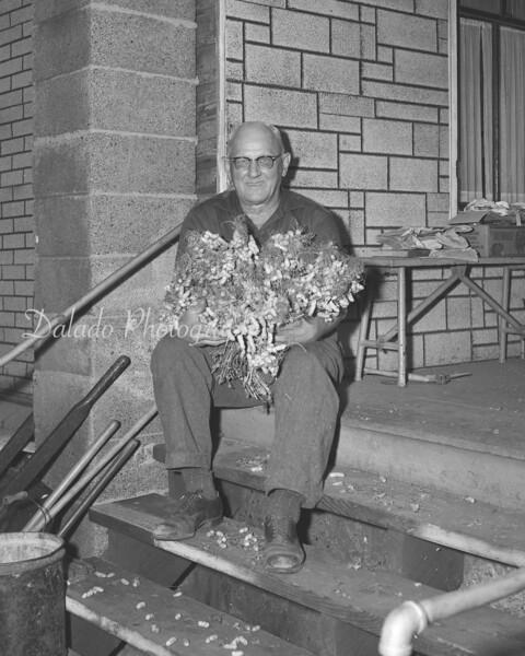 (Oct. 1958) Garden man.