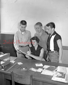 (09.29.55) Officers of the senior class of Trevorton High School are Jane Faulds, Edmund Burke, Lamar Fox and Jim Strausser.