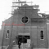 (August 1955) Construction of new church for St. Anthony's congregation of Brady. New church being erected under the supervision of the Korbich Lumber Co., Shamokin.