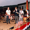 (06.03.1989) Celebrating Shamokin's 125th Anniversary- Pictured at a ceremony in the municipal parking lot off Independence Street are, from left, Ray Bixler, Milton Major and Mayor Harvey Boyer.