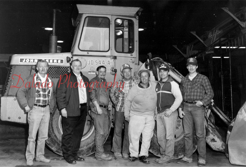 (1989) Shamokin Street Department- Pictured are, from left, Jim Kulbacki, Larry Kinder, councilman in charge of streets; George Noll, foreman; Al Cerklefskie, Edward McCabe, Robert Bobbers and Kevin Richardson.