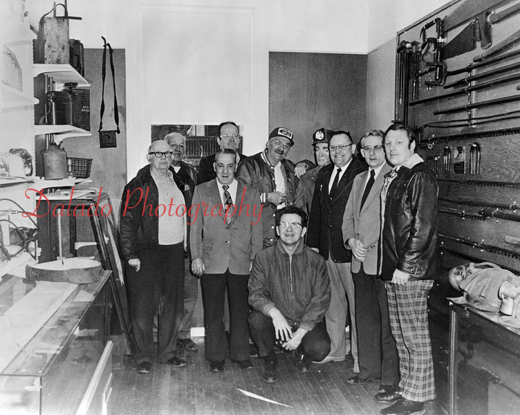 Anthracite Museum Officials. Shown are Mooch Kashner, Harold Shomper, Joe Lahnstein, John Glennon, Mayor Thomas, Dan Marshalick, Dave Donmoyer, Dick Morgan and Milt Yost.
