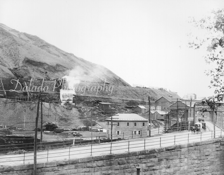 Eastern-end of the colliery complex as seen in the  early part of the 20th century.