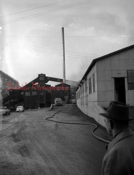 (Feb. 1951) Small fire at the Glen Burn.