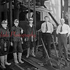 (07.01.1933) Mining view of the Colonial Colliery, Maidera Hill Co., in Natalie. Pictured on July 1, 1933, are, from left, Tom Brennan, Jack Brennan, Larry Brennan, Ed Fox and George J. Jones, superintendent.