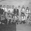 (May 1960) Independent Miners, through their association, have been receiving mine safety instructions from federal and state officials. Instructors and students in the eight-week course include, front row, from left, Russel Albright, Robert Erb, Joseph Bednarczyk, Frank Deloroso and Gilbert Bridy; back, Therodoe Deek, instructor, Clarence Kashner, association president; and Gerald Kettle and Harold Shomper, state mine inspector.
