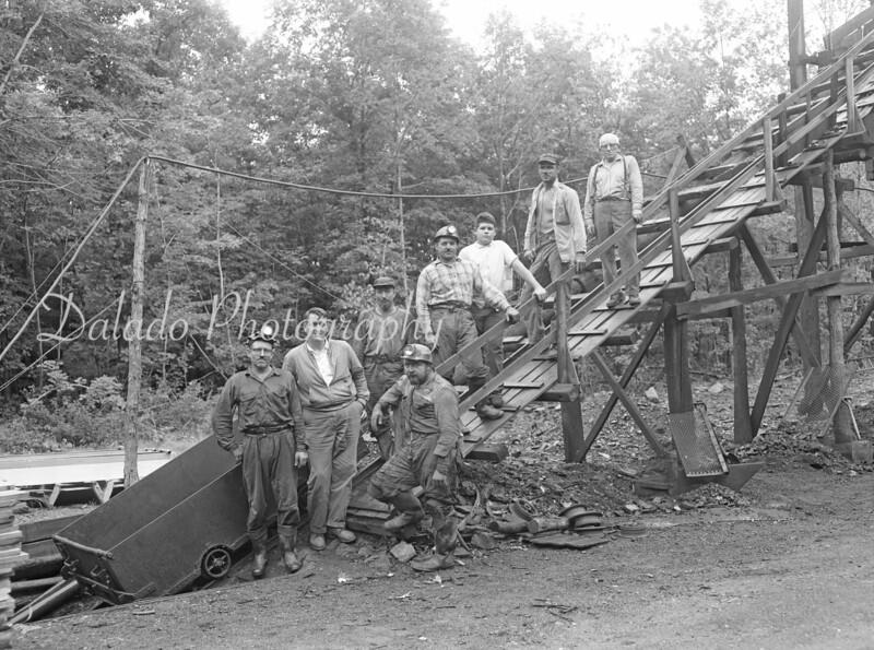 (1957) Mine slope.