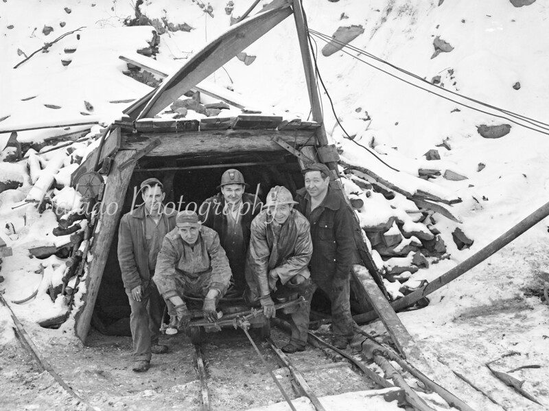 (1957) Miners at slope.