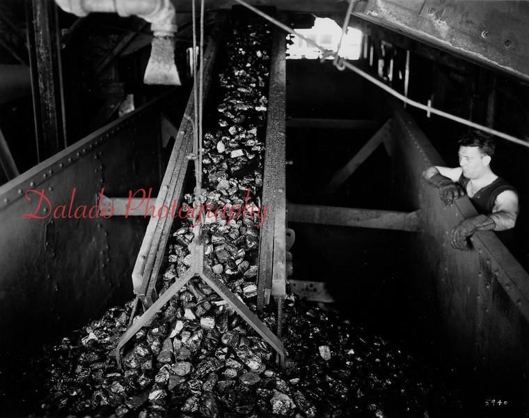 Coal shute.