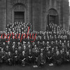 (1922) Panoramic of United Mine Workers in front of St. Ed's Church in Shamokin.