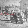 (1914) Float that was awarded first place in Industrial Parade during Shamokin celebration in 1914. Float carried a replica of Bear Valley Colliery and was made by Rhinehart Webber, far right. Man standing at center is Peter Wendling.