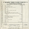 Roaring Creek Water Co. bill from April 12, 1923.