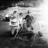 (1955) Catching minnows in Benny's Run in Irish Valley.