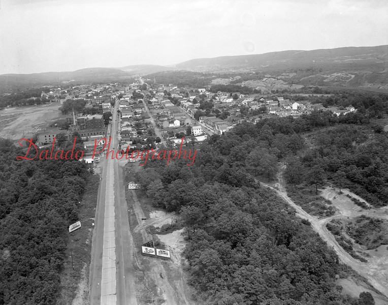 (1954) Aerial looking east.