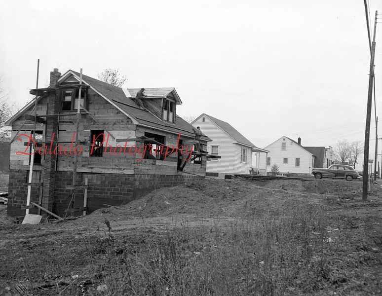 (11.26.53) The 28th home in the new Kulpmont addition is nearly completion. This home is being built by Harry Jones and Sons, Shamokin, for Anthony Fericco, Ranshaw.