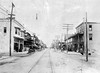 (1912) Shown in this photo is Chestnut Street at Tenth Street. Scicchitano's Pizza is currently located in the first building at left.