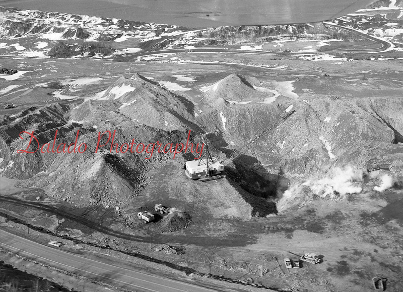 (March 1971) Mine fire reclamation east of Mount Carmel.