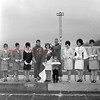 (1966) Mount Carmel Area High School Field Day Queen. In this photo are Karen Smith, Judy Menapace, Dianna Miller, Earl Maurer, Margaret Buchinski, Mike Mychak, Janice Bubernack, Kay McGee, Joanne Hobgood, Johnny Spandra.