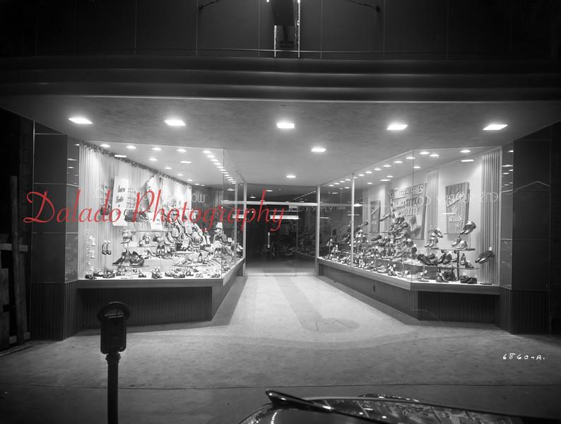(March 1953) Miller Store along Oak Street in Mount Carmel.