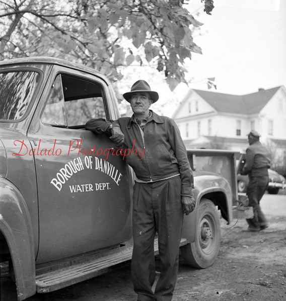 (1957) Danville Water Co. Shown are Leroy Dietrich and Dave Hack.