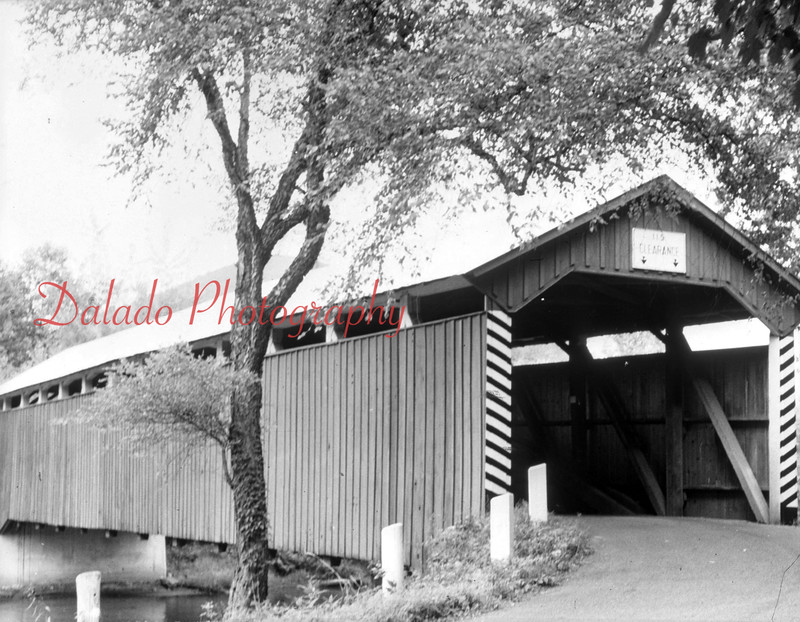 (Feb. 1953) Covered bridge, exact location unknown.