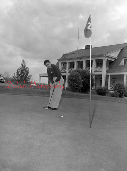 (June 1954) George Felicee, an instructor at Fountain Springs Country Club.