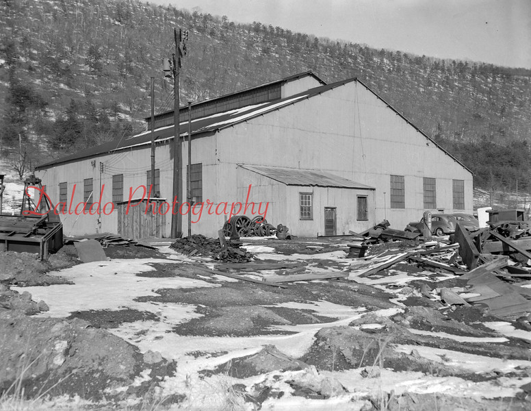 (1957-58) Deibler Station. The building housed anthracite briquette making plant until, or shortly after World War II.