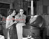 (Oct. 54) Mrs. Bruce Dreese, right, supervisor of the Herndon Community Cannery, and Milda Zeigler, left.