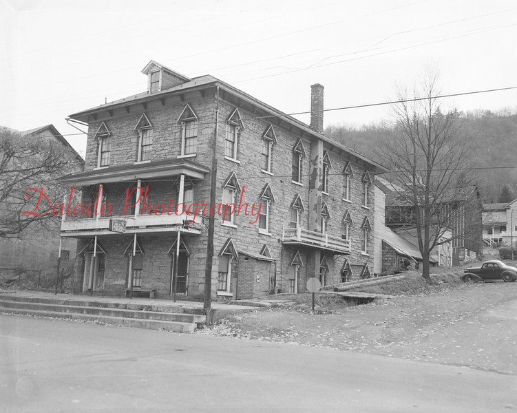 (11.12.1953) The Elk Hotel in Trevorton on Nov. 12, 1953. President Buchanan may have stayed here. The building was first used as a hotel in 1903. It is one of Trevorton's oldest buildings, having been built in 1855.
