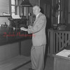 (02.02.1954) Shown is Henry Brecker, of 136 S. Hickory St., Mount Carmel, on Feb. 2, 1954, who was a Reading Railroad Station agent for 54 years. He started at the depot in Locust Gap on June 1, 1900.