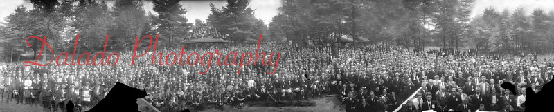 Ashland Boys Association of Pa. in a park in Ashland. This panoramic is about three feet in length.