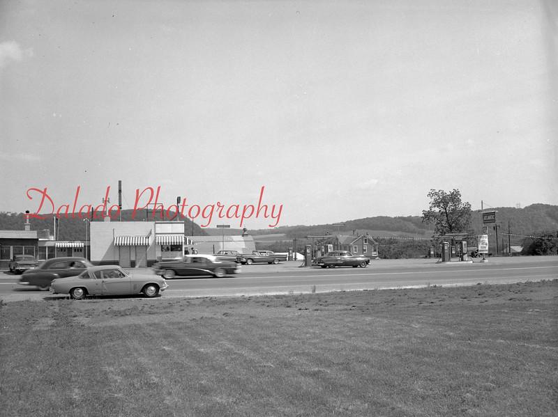 (1959 or 1960) Fisher's Gas Station in Shamokin Dam.