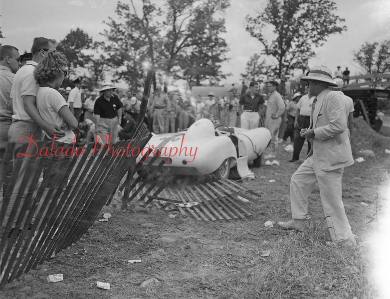 (July 1958) Giants Despair Race in Berwick almost turned tragic when a vehicle went out of control.