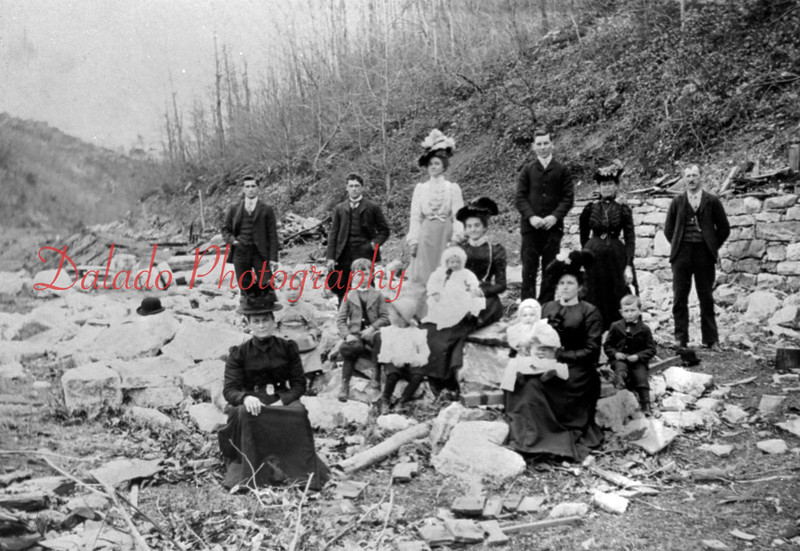 Trevorton residents back in 1901 are shown in the ruins of the lowerr breaker, which was dismantled during that year. On the photo are Mr. and Mrs. Charles Geigle, and son, William; Mr. and Mrs. Jacob Geigle and daughter; Mr. and Mrs. Shipe and son, Floyd; Mr. and Mrs. Frank Yordy, Mrs. Albert Haupt and sons, Earl and Geibert.