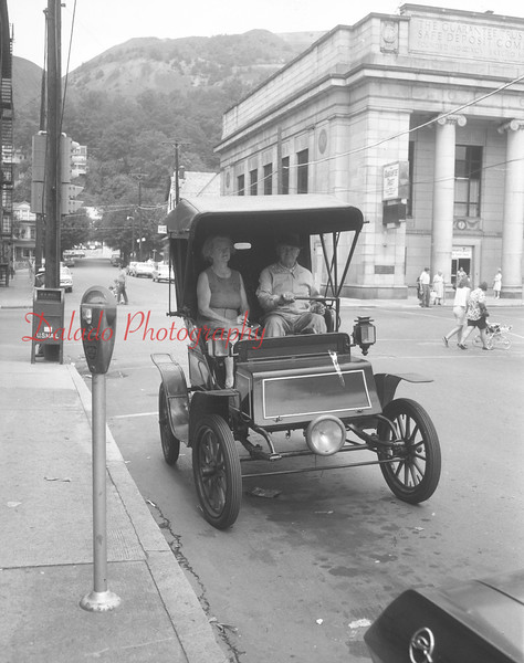 Old car on Eighth Street in Shamokin. (Marked Aug. 1955.)