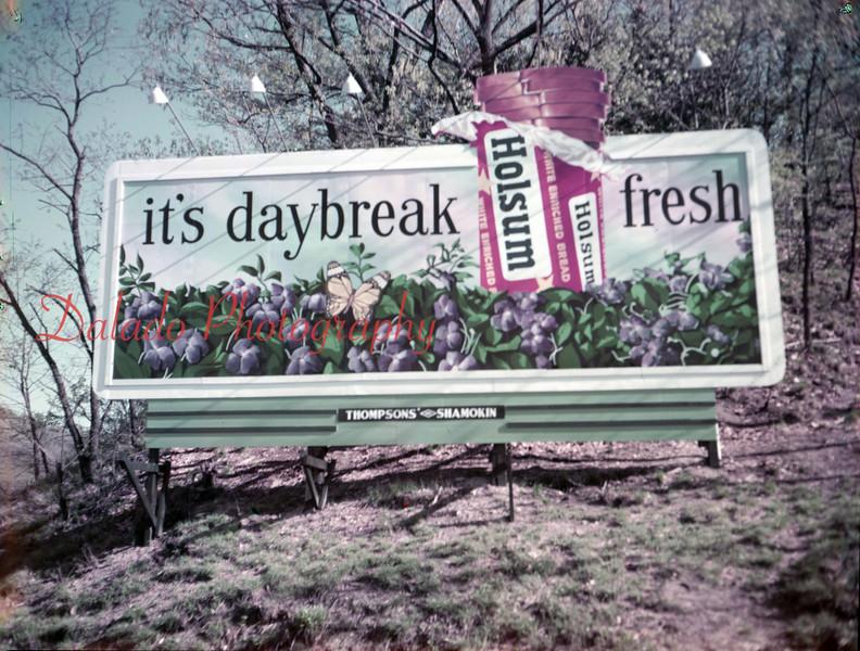Holsum billboard, unknown location.
